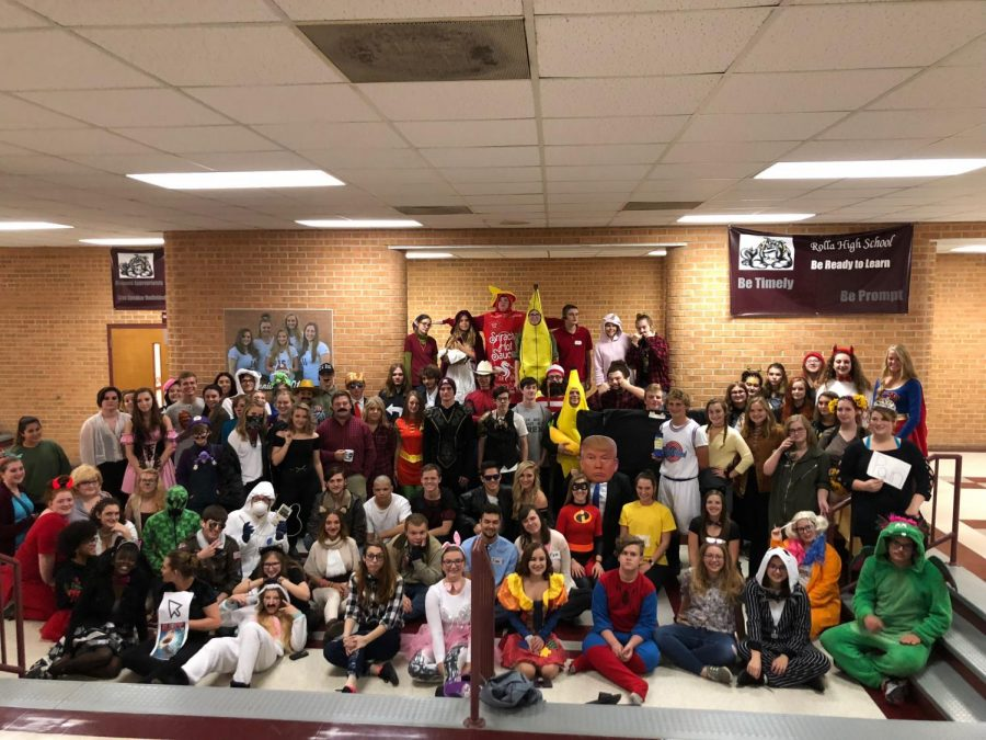 Students show off their original Halloween costumes