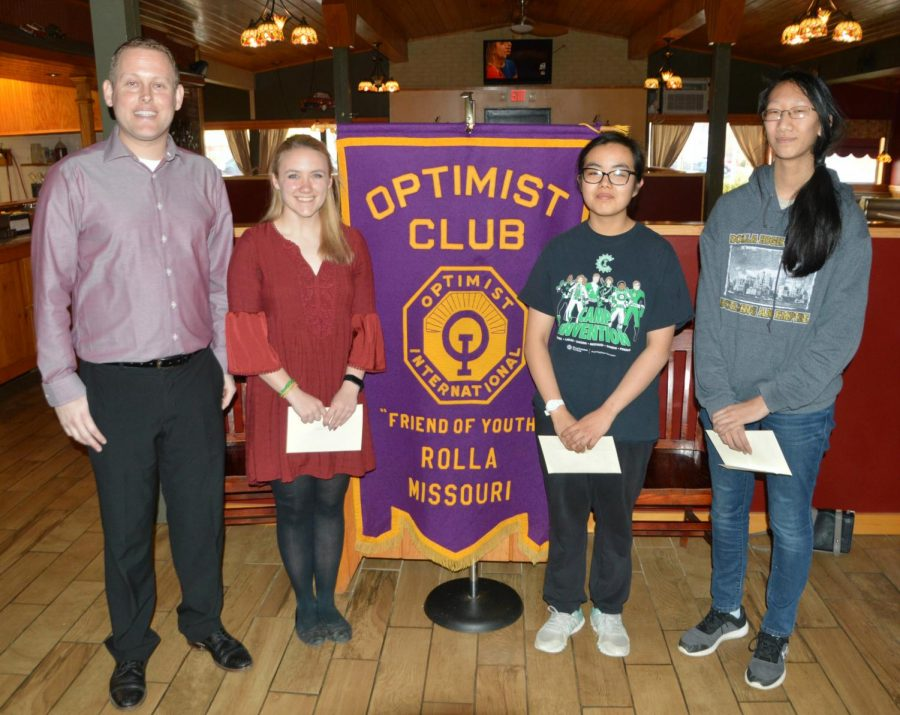 Optimist+Club+recognizes+three+students+in+essay+competition
