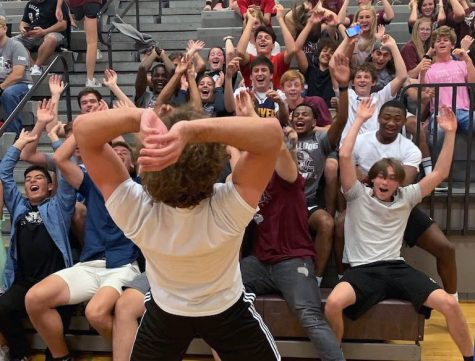 Tradition continues as RHS 6th man cheers on Volleyball at jamboree